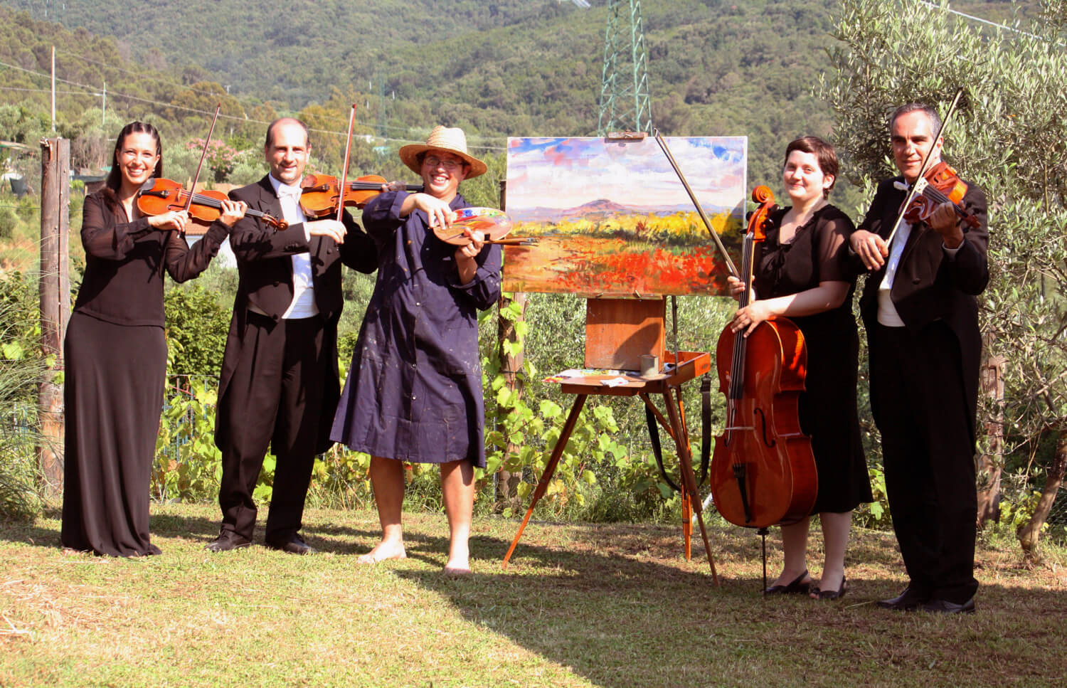 Live Wedding Painter Tuscany Florence Chianti Siena
